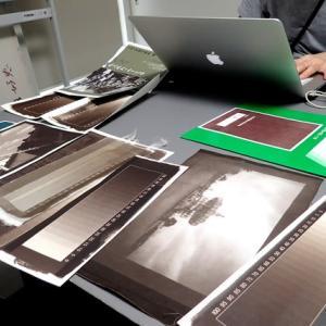 古典印画技法 ヴァン・ダイクブラウンプリント講座 / 1日目 基礎実習:感光薬品の調合&データチャート作成