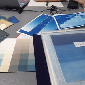 古典印画技法ブループリント講座 / 1日目 サイアノタイプ技法による制作準備