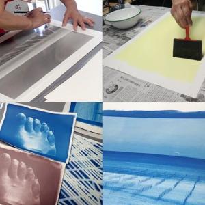 古典印画技法ブループリント講座 / 3日目 青の色調変換&サイアノ大判プリント