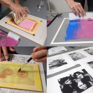 シルクスクリーンプリント講座 / 1・2日目 刷り体験&写真製版原稿作成