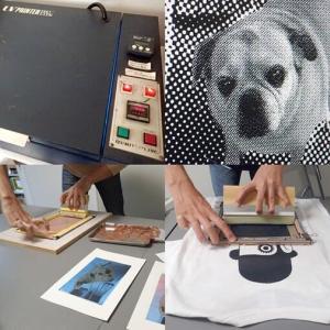 シルクスクリーンプリント講座 / 3・4日目 写真製版&様々な刷りの実習