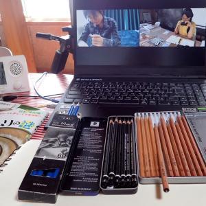 創作実験クラブ / 2日目 画材の研究:鉛筆2 それぞれの実験