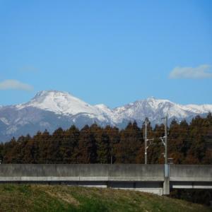 那須山の冠雪の平成最後の暮れ~