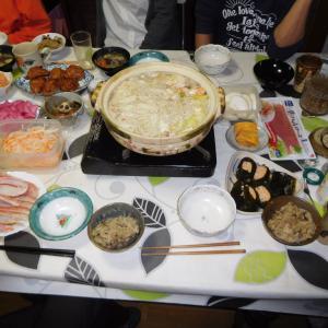 平成31年 正月の楽しい夕食の我が家の食卓