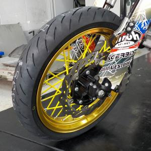 WR250 DUNLOP GPR300 タイヤ交換('◇')ゞ