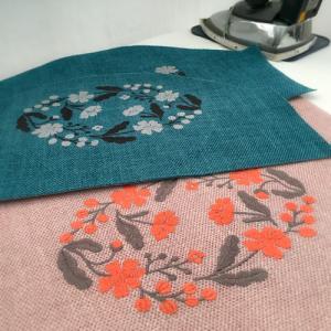 ◎新しい布で、かわいい色ができました。