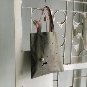 ◎手刺繍のお稽古バッグができました。