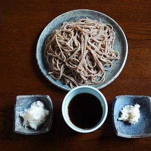 7月6日  蕎麦を薬味大根で食べる