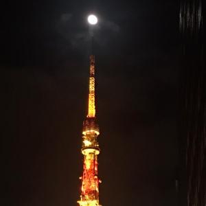 今夜のお月さまもパワーが強い