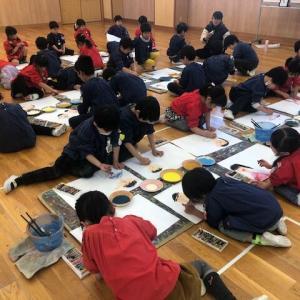 🖌 幼稚園最後の『絵画教室』がありました 🖌