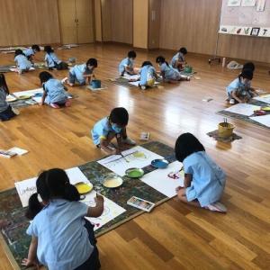 🖼 年中組さん、初めての『絵画教室』 🖌