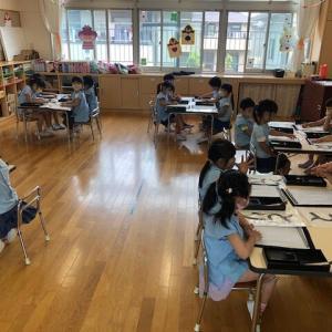 🍀 年中組さん、年長組さん『習字教室』がありました 🍀