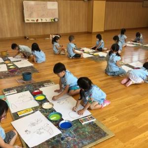 🍀 年長組『絵画教室』がありました 🍀