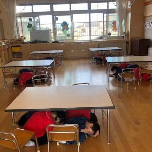 地震の『避難訓練』をしました