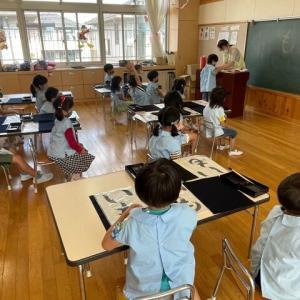 1週間の初めは、落ち着いて『習字教室』