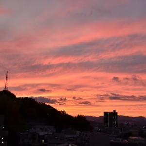 10 月 2 0 日 の 夕 焼 け