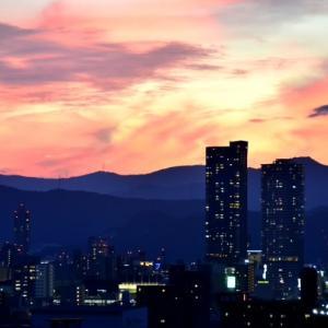 7 月 の 夕 焼 け 空