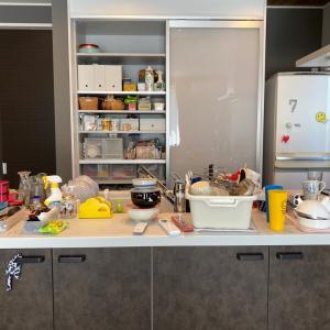 【整理収納実例】ご新居のキッチン 無印の収納でスタイリッシュに♪