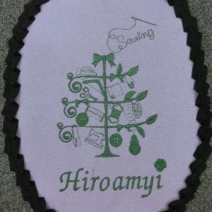 刺繍でメリークリスマス