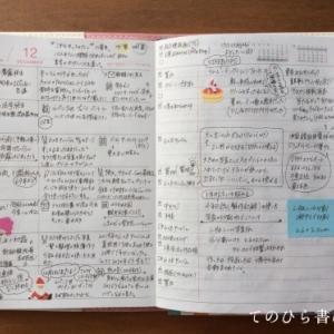 マークス週間レフトA6手帳2020#ウィークリーページ12月分(とほぼ日weeks)