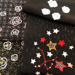 黒の刺繍半襟