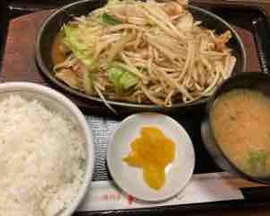 味噌ホルモン定食