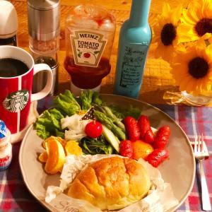 赤ウィンナーな朝食