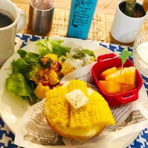 出来立てホヤホヤおからサラダで朝食