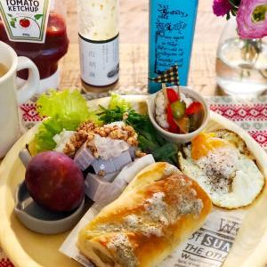 ゴルゴンゾーラとはちみつパンな朝食