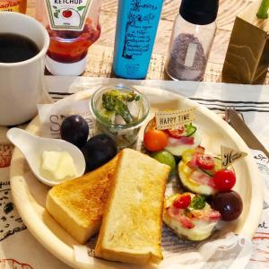 今シーズン最後の食材で朝食