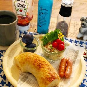 作り立ておからサラダな朝食