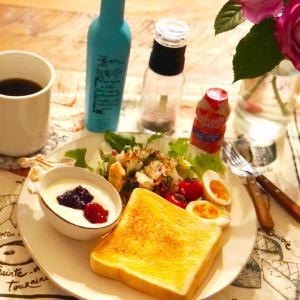 昨日と今日の朝ごパン♪感動したハード系パン♡