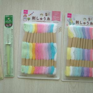 やっぱりテンション上がります♪新しい編み針&刺繍糸を購入
