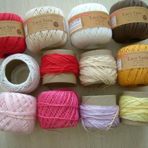 ダイソーレース糸で次作品、試し編み。