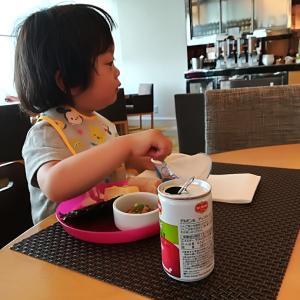 親びん海デビューの旅♪朝食も大満足なヒルトン福岡のラウンジの朝食ビュツフェ♡♡♡