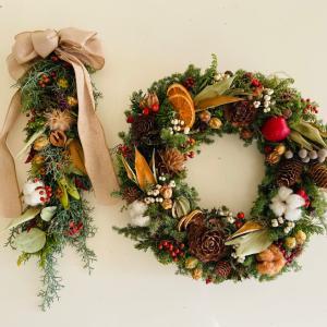今年のクリスマスリース^ ^