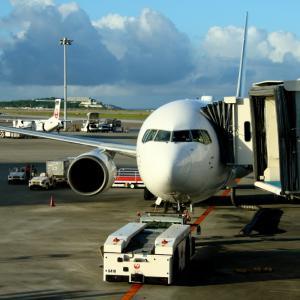 次男坊のために羽田へ その1 那覇空港での撮影