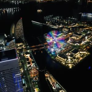 横浜ラウンドマークタワーからの眺め。‼️