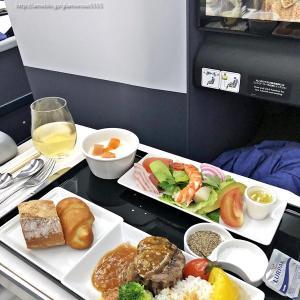 ANA/NH184・ホノルル線A380ビジネスクラス搭乗レポ~機内食編②~