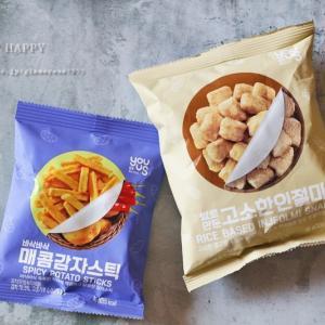 おいしい韓国コンビニおやつ♪インジョルミスナックとポテトスティック実食!