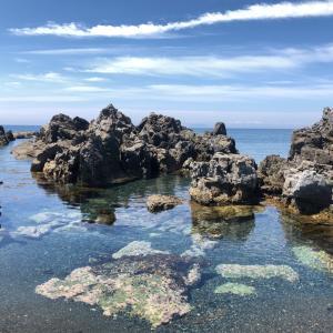 松前の海で一休み