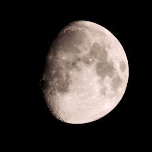 夏至の夜の月