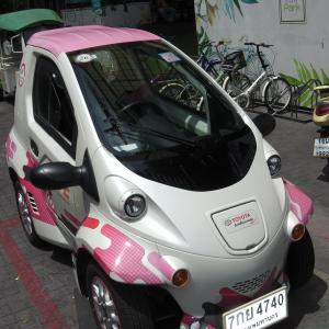 チュラ大でのトヨタ製電気自動車のカーシェアリング