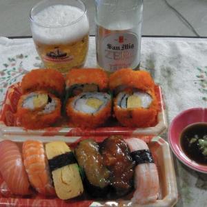 東海寿司と低カロリービール