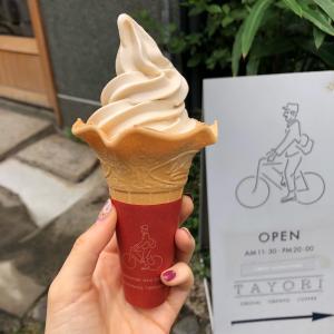 千駄木『tayori』きなこソフトクリーム