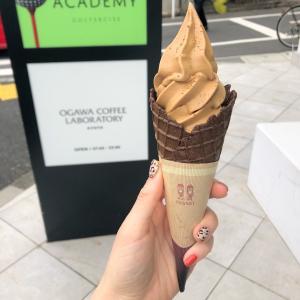 桜新町『OGAWA COFFEE LABORATORY 』小川珈琲オリジナルカフェオレソフトクリーム(コーン)