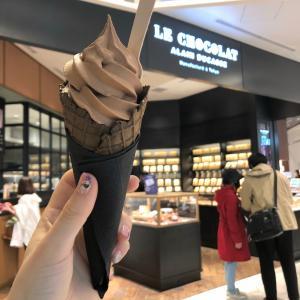 渋谷『LE CHOCOLAT ALAIN DUCASSE ル・ショコラ・アラン・デュカス』ソフトクリームショコラ