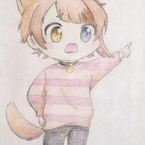 色鉛筆画 莉犬(りいぬ)くん 模写