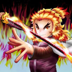 炎の絵 煉獄杏寿郎(鬼滅の刃)