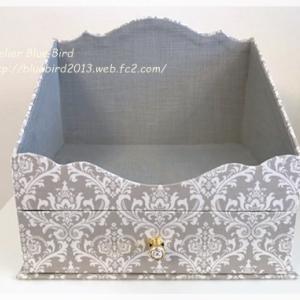 Lesson作品・生地の異なる二つの飾り棚の箱♪